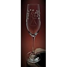 Sektglas mit Gravur