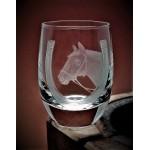 Schnapsglas mit Gravur Pferd