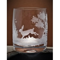 Schnapsglas mit Gravur Jagd