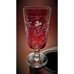 Weinglas mit Gravur Blumendekor