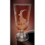 Weinglas mit Gravur Jagd