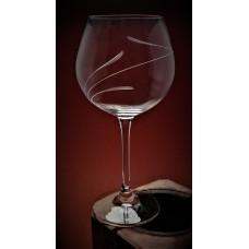 Weinglas mit Gravur Spirale