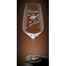 Weinglas mit Gravur Sternzeichen