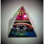 Glasgeschenk Pyramide